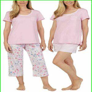 Carole Hochman Women's 3 Piece Pajama Set
